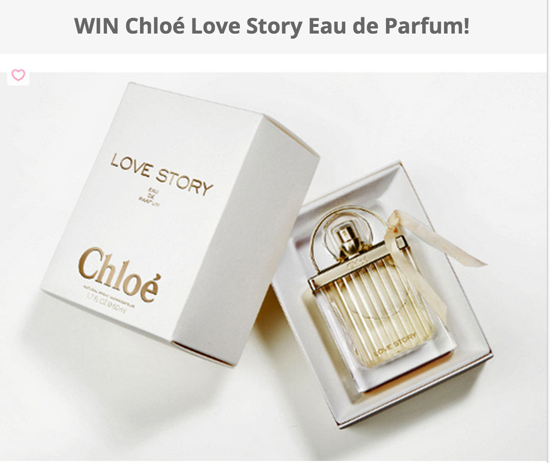 image Win Chloé Love Story Eau De Parfum shows box and bottle