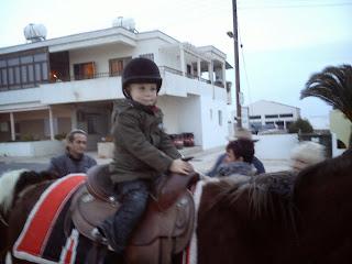 Christmas donkey ride