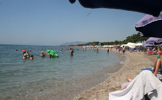 Beach getting busier as the morning goes on