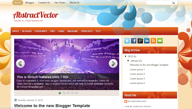 Colorful Blogger Template