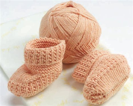 wong designed these baby booties knit with portuguese style knitting