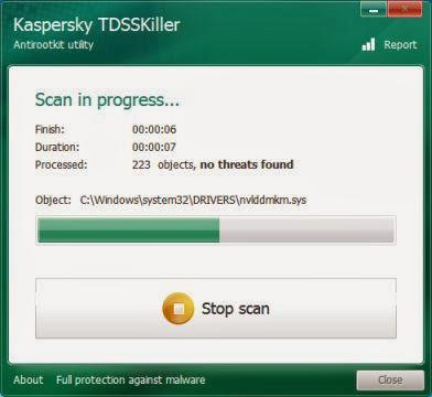 Kaspersky TDSSKiller Scanning
