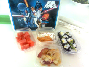 Lunch by Steph and Keohi; Beloved StarWars lunchbox from Memphis Grandma