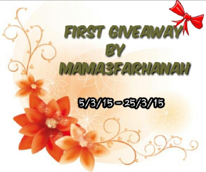 http://mama3farhanah.blogspot.com/2015/03/first-giveaway-by-mama3farhanah.html?m=1