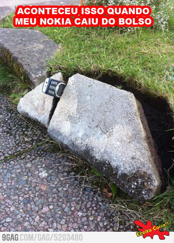 nokia, pedra, caiu, bolso, eeeita coisa