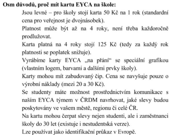 Ceska Skola Karta Mladeze Eyca Pro Stredoskolaky