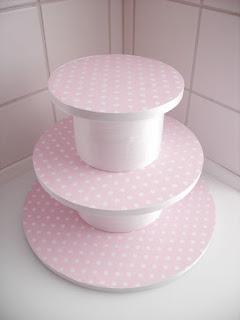 easy handmade cake stand