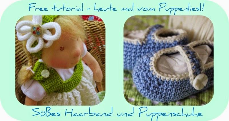 Free tutorial - heute mal vom Puppenliesl! Süßes Haarband und ...
