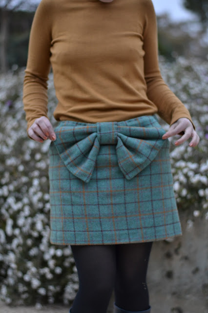 bow skirt plaid pauline alice