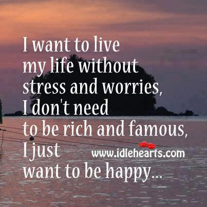 I just want to live my life