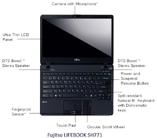 Fujitsu Lifebook SH 771,Thinnest Laptop,Laptop with SD Card Slot,Laptop with Intel Core i5/i7