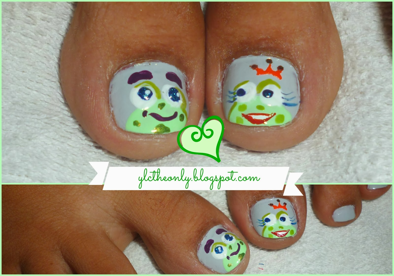YLCTheOnly: Arreglo de uñas: El sapo y la Princesa ♥