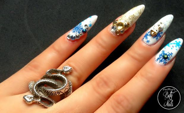 betty nails bling christmas