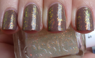 Essie - Shine Of The Times, OPI - Over The Taupe, swatch