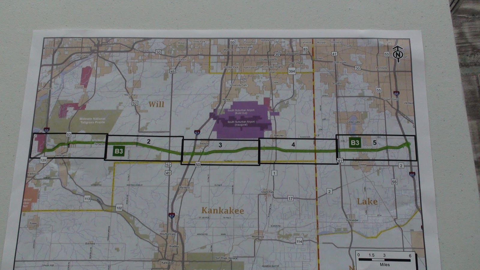 Illinois will county peotone - Illiana Expressway B3 Alignment And Peotone Airport Footprint Map