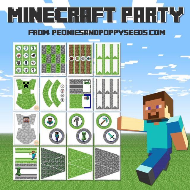 Kit De Minecraft Para Imprimir Gratis Ideas Y Material Gratis