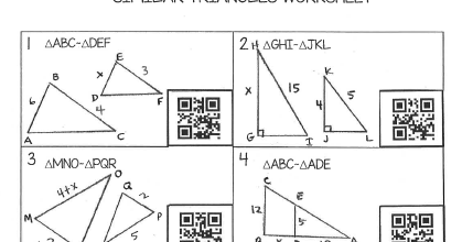 teaching high school math similar triangles worksheet with qr codes free. Black Bedroom Furniture Sets. Home Design Ideas
