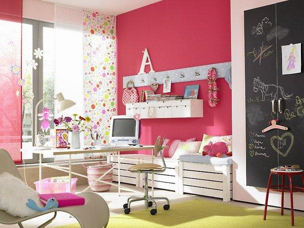 розовые комнаты для подростков интерьер