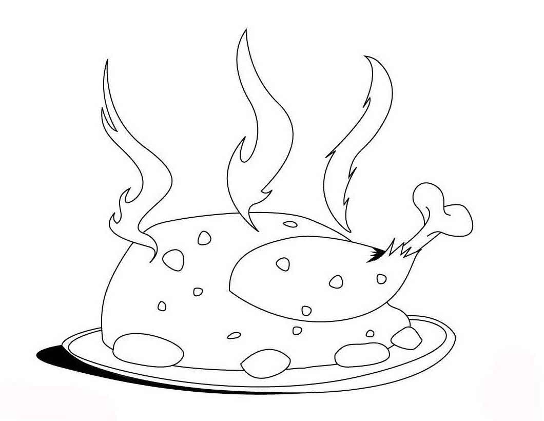 meat chicken coloring pages 1080p