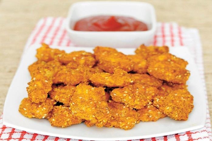 Kurczak w sezamowej panierce