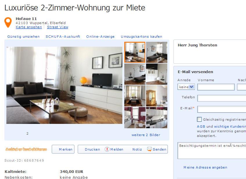 Wohnung Mieten Wuppertal Elberfeld