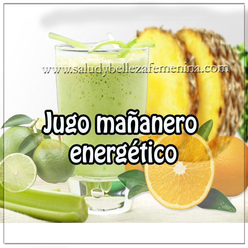 Bebidas saludables, receta de jugo mañanero energético , bebidas sanas