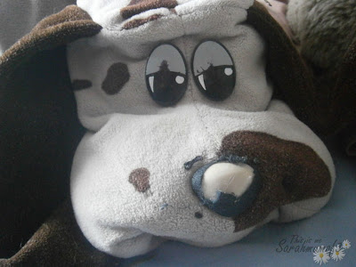 80's soft toy from the 80s pound puppies pound pups dog with babies