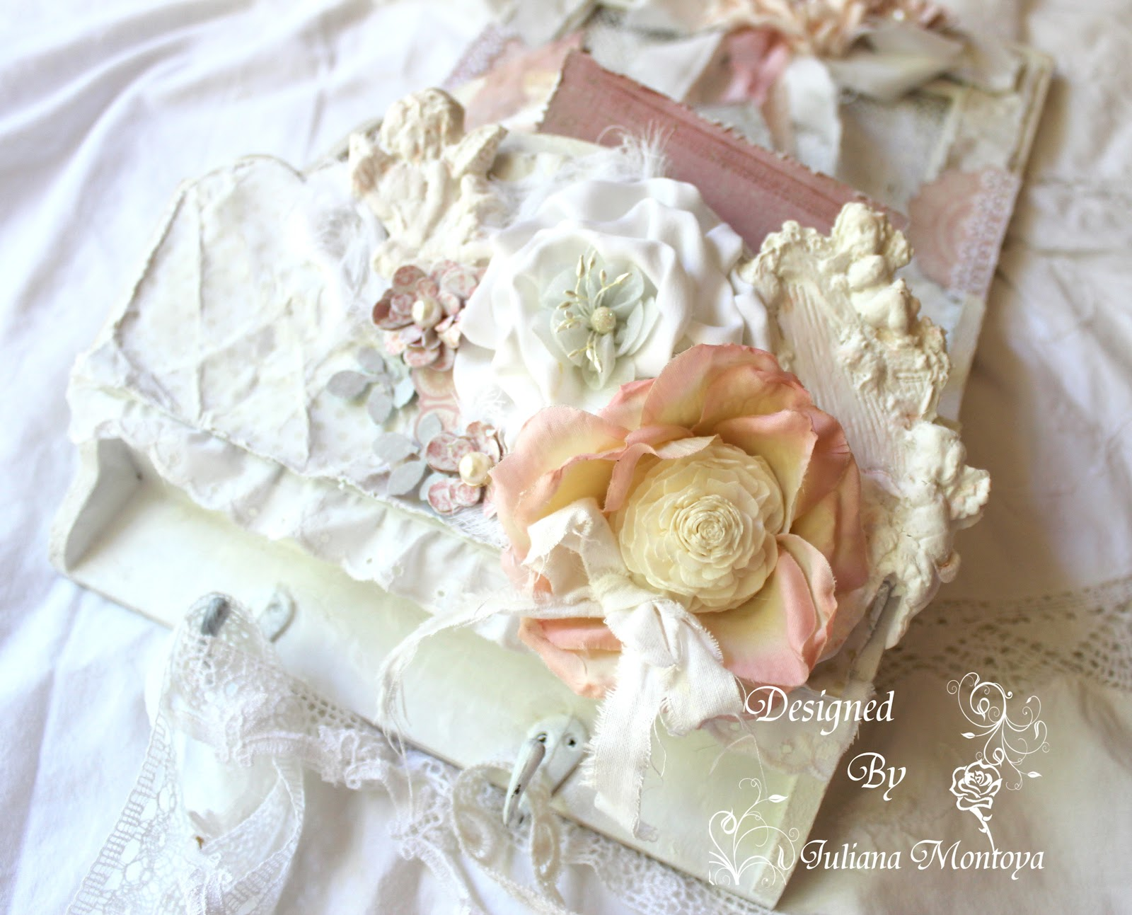 Shabbychicjcouture shabby chic home decor mail hanger - Deco shabby chic romantique ...