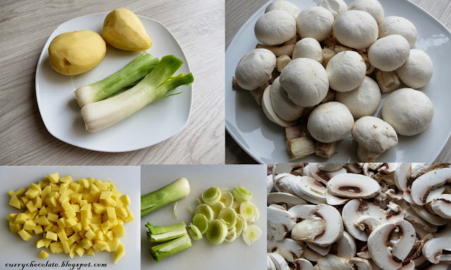 Ingredientes crema de champiñones
