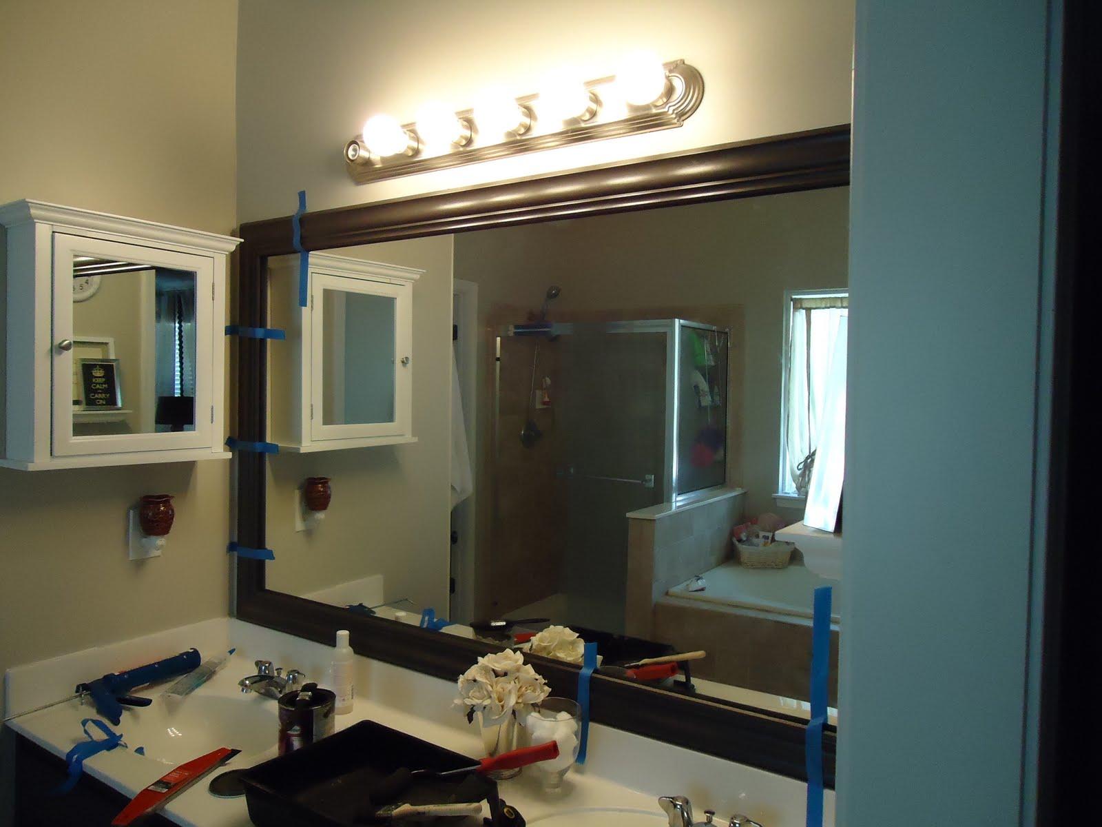 suburban spunk*: $7 vanity light redo