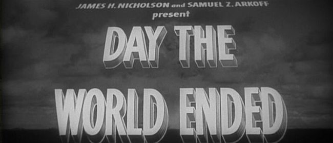 The Day the World Ended title screen