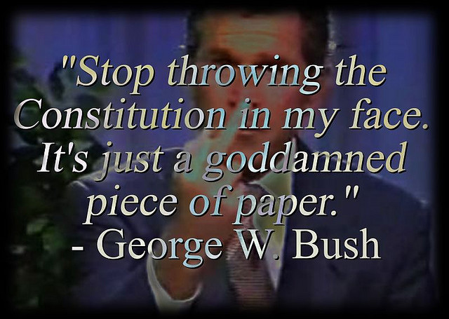 bush its just a goddamn piece of paper