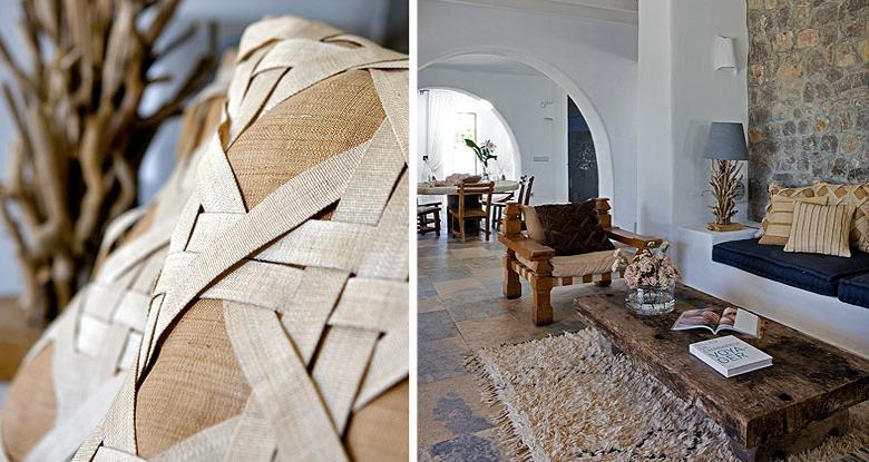 Una exotica casa en ibiza exotic house in ibiza for Muebles con troncos