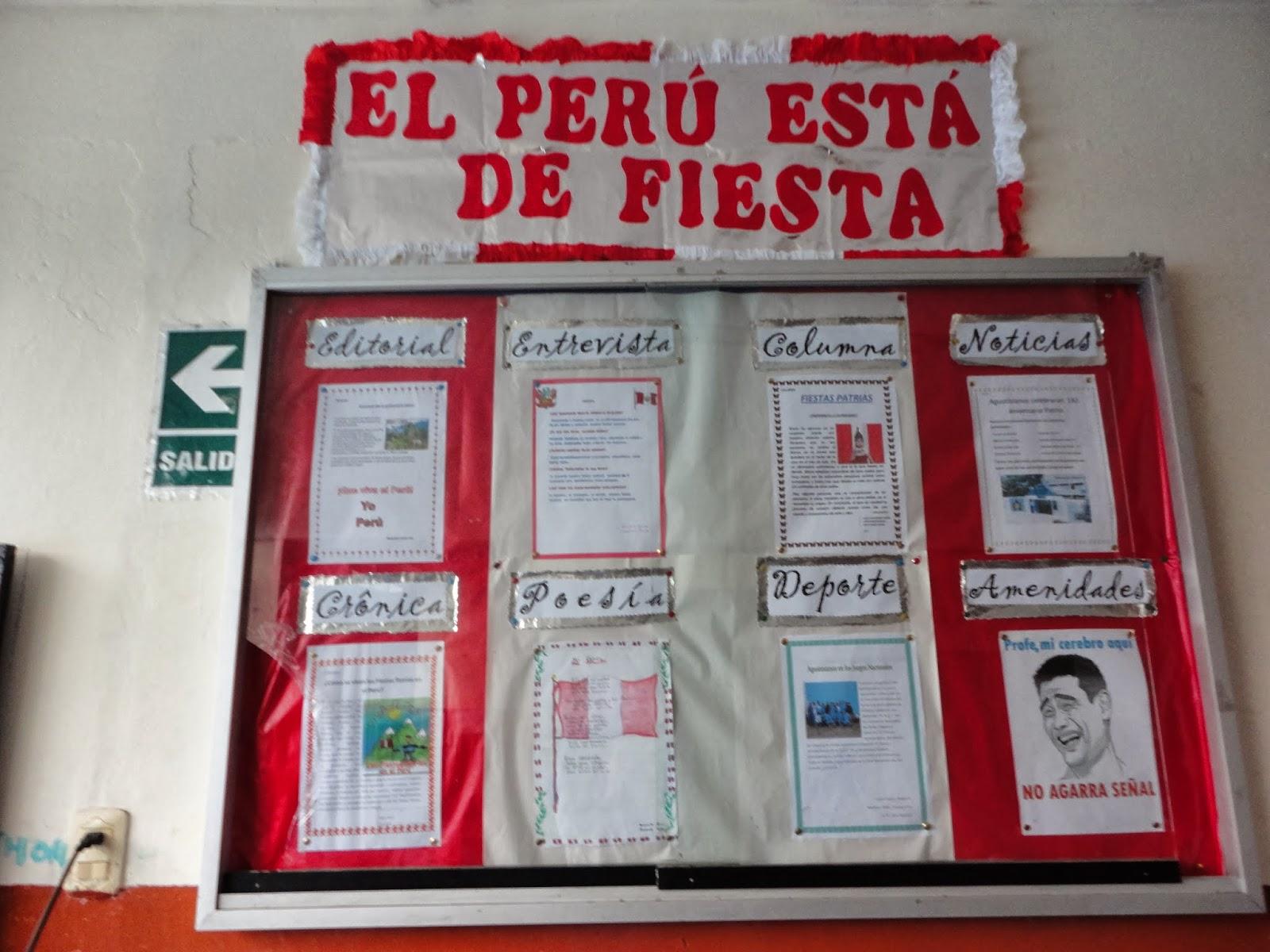 Nuestros peri dicos murales y paneles julio 2012 for Diario mural fiestas patrias chile