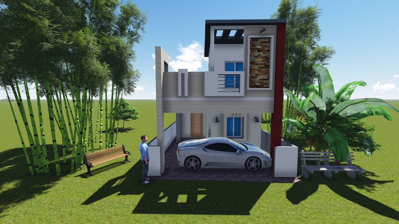 Individual House   Lucky Home Designer