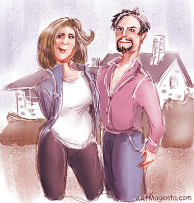 Get a wife through an estate agent, a caricature by Artmagenta.