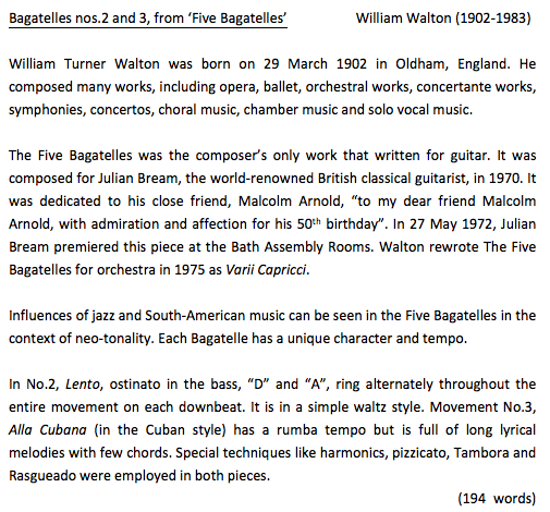 programme notes atcl How do i write good programme notes for abrsm and trinity guildhall music   at dipabrsm and atcl, when writing for a general concert audience, i would.