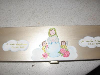 caixa para 1ª comunhºao e baptizado