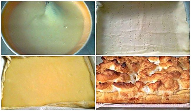 Preparación de la tarta casera de limón con hojaldre