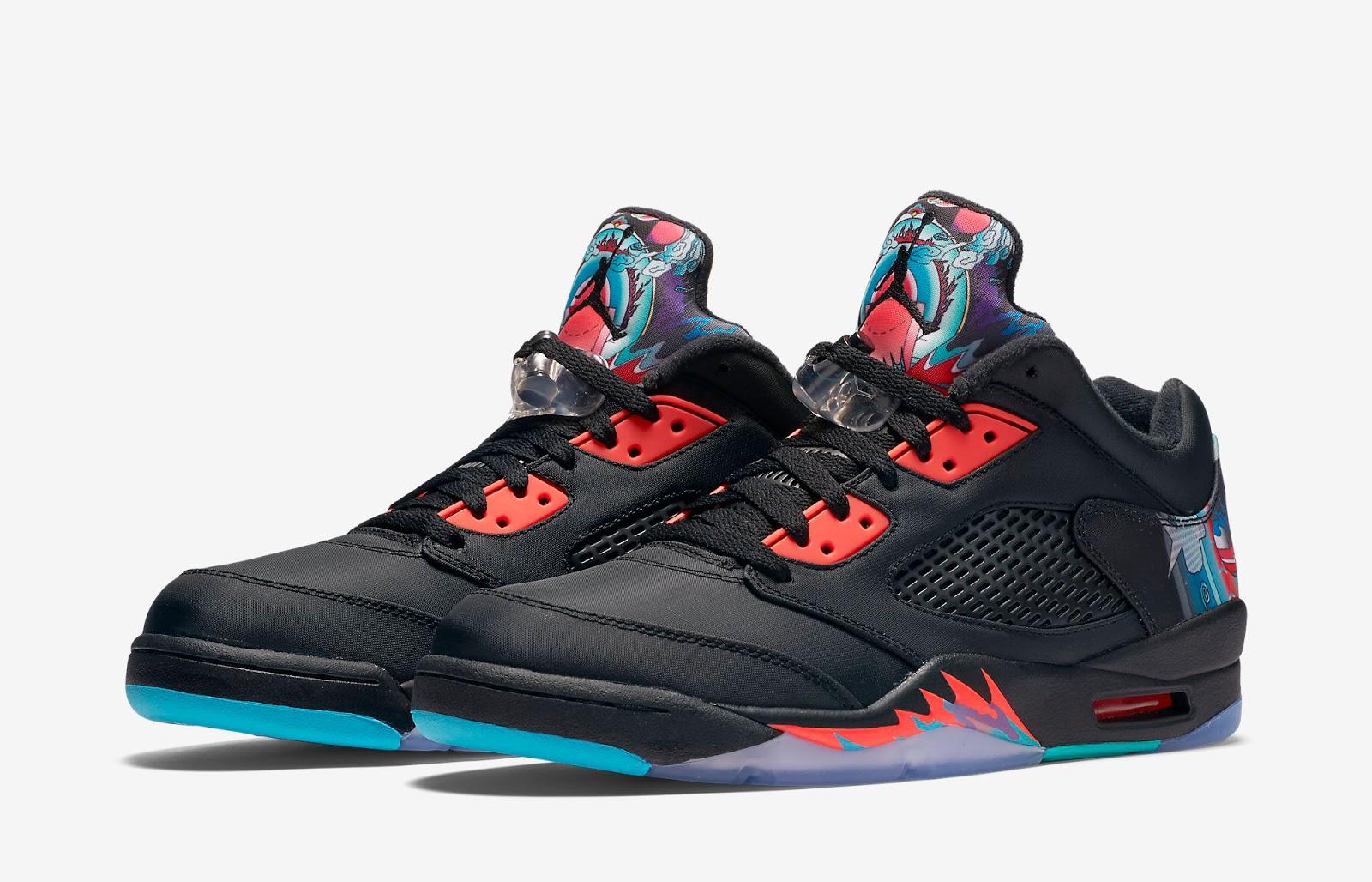 Nike Air Jordan 5 V Retro Low China CNY Black Bright Crimson