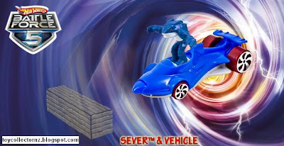 McDonalds Hot Wheels Battle Force 5 - Australia and New Zealand release - Sever and Vehicle