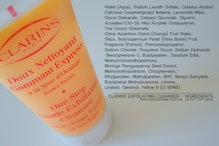 Clarins One-Step Gentle Exfoliating Facial Cleanser Indian Skincare Makeup Beauty Blog Reviews Ingredients Uses Face Wash