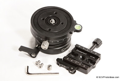 Sunwayfoto DLC-60L Duo QR Clamp w/ DYH-90R Leveling base + screws + hex key