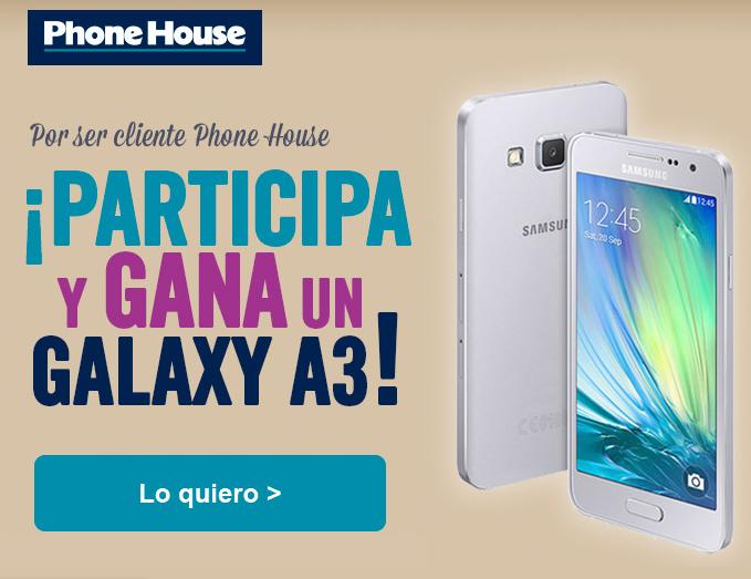 Hasta el 14 de Abril puedes participar en el sorteo del Samsung Galaxy A3.