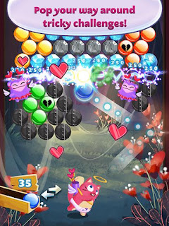 Screenshots of the Bubble mania: Valentine's day for Android tablet, phone.