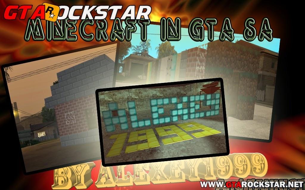 GTA SA - Mod Minecraft V1.0 (Construir Coisas)