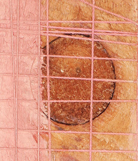 Skin/Flesh (back detail), 1999. oil & mixed media on wood. 91.5 x 28.6 cm
