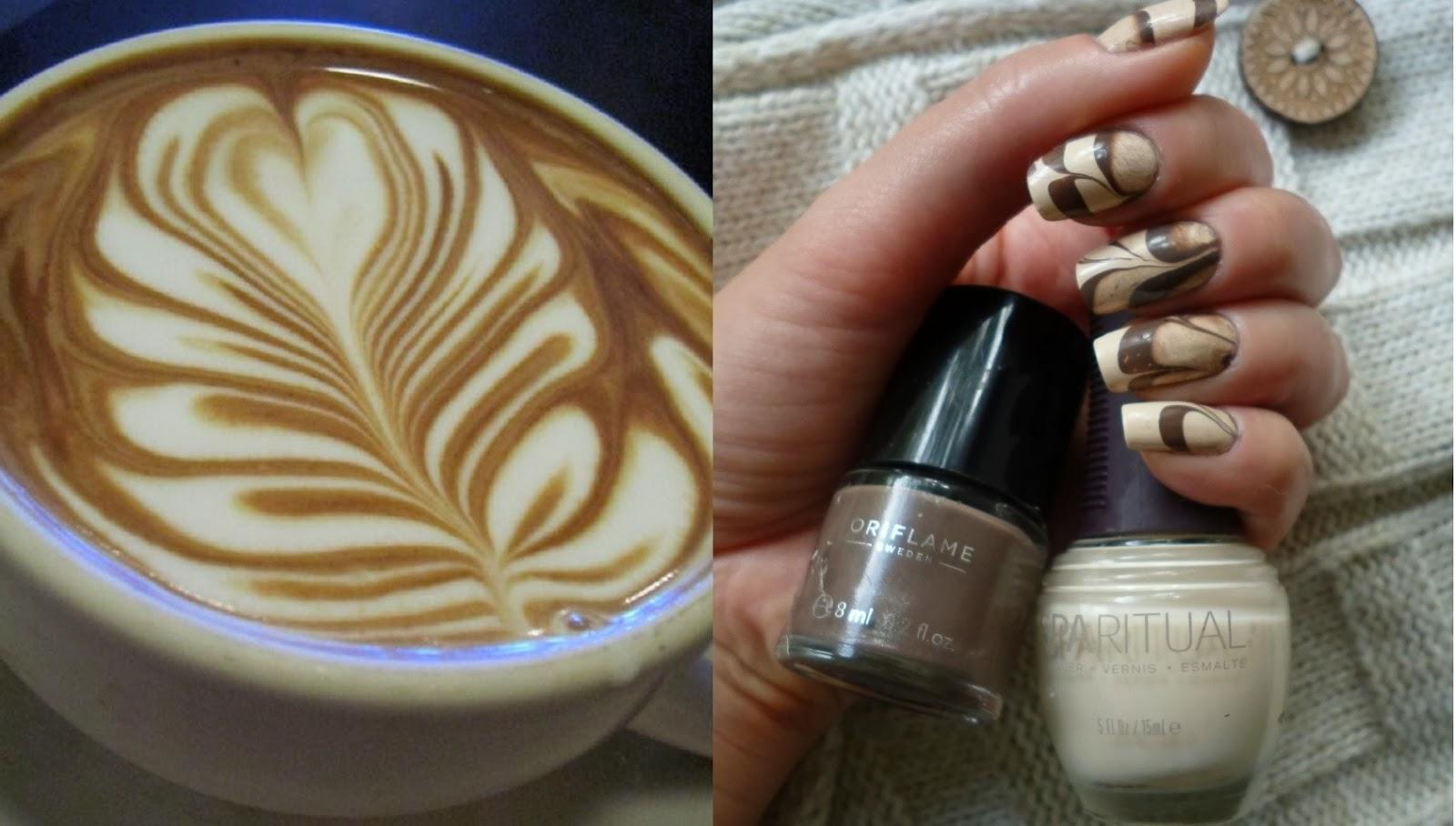 Кофе с молоком фото ногтей