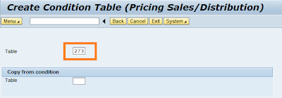 Create condition record in pricing configuration in SAP SD