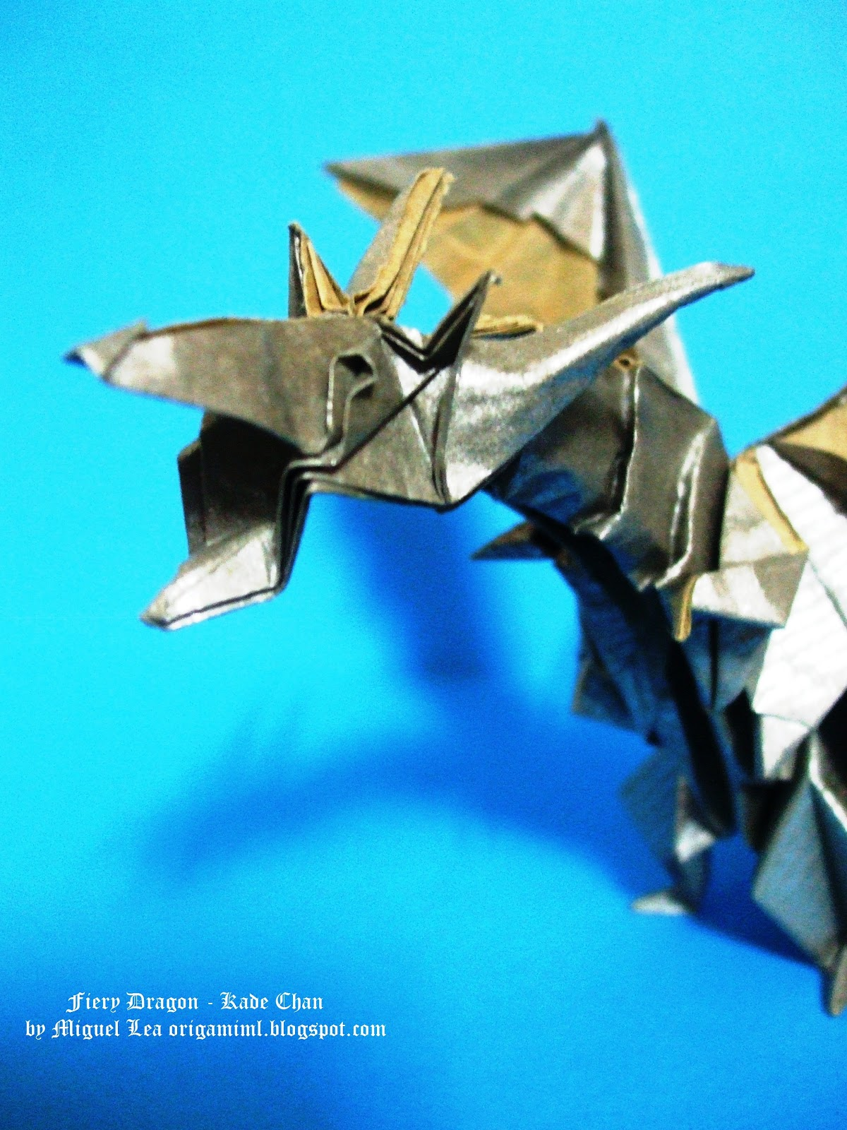 how to make origami fiery dragon